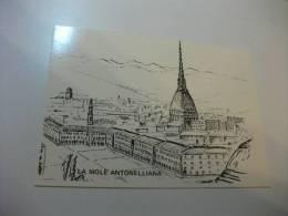 La Mole Antonelliana  Litografia Torre - Mole Antonelliana