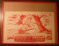 "Buvard Extra ""Chocolats Fins Menier - Les Voleurs Et L'âne"" - Cioccolato"