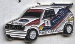 Pin´s Voiture Rallye Mitsubishi Michelin Shell Facom Rothmans - Mitsubishi