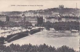France Lyon Pont Lafayette et Coteau de Fourviere