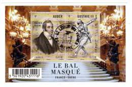 BLOC FRANCE-SUÈDE Le Bal Masqué,oblitéré Rond Du 28/11/2012 - Oblitérés