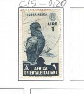 Italy Col.1938  PA Scott.C/5 Used  See Scan - Africa Orientale Italiana