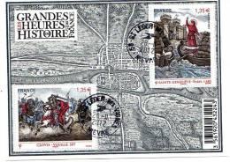BLOC GRANDES HEURES HISTOIRE DE FRANCE,oblitéré Rond Du 28/11/2012 - Oblitérés