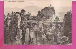 WEHLEN  -   ** BASTEIBRÜCKE IN 1910 **    -  Verlag :  TH. C. RUPRECHT.aus DRESDEN -  N°262 - Wehlen