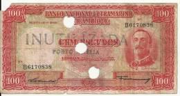MOZAMBIQUE 100 ESCUDOS 1958  VG P 107 - Mozambique