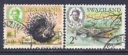 Swaziland, Scott # 161-2 Used Part Set Wildlife, 1969 - Swaziland (1968-...)