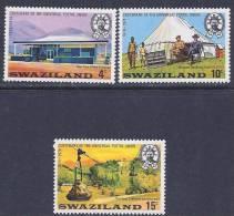 Swaziland, Scott # 214-6 Mint Hinged Part Set UPU, 1974 - Swaziland (1968-...)