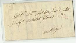 SARDAIGNE  -  LIGURIE    San Rémo   Tarif  Du 1.6.1844 Au 31.12.1850  L.I. 1°Ech.  - 7,5gr. - En Port Payé - Distance - Sardaigne