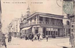 CPA - 29 - BREST - La Rue De La Mairie Et Le Grand Café - 38 - RARE !!!!! - Dreux