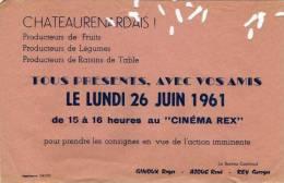 CHATEAURENARD (13) Affichette Annoncant Une Manifestation De Paysans - Cinéma Rex (VP483) - Affiches