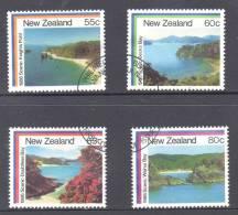 New Zealand 1986 Scenic Bays Set Of 4 Used - New Zealand