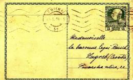 DOPISNICA  K.u.K.  --  SENT TO --  LA BARONESE REUCH, ZAGREB  -  1914 - Croatia