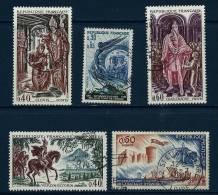 """YT 1484 1486 1495 1496 1497 """" Histoire, 5TP """" 1966 Oblitérés - Oblitérés"""