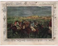 Carte  En Relief  Champs De Course Des Jockey Amateurs - Postkaarten