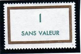 FRANCE FICTIF N° F165 ** Timbre Neuf Gomme D´origine Sans Trace De Charnière - TB - Phantomausgaben