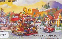 Télécarte JAPON DISNEY (4061)  PHONECARD JAPAN * Telefonkarte * 110-182980 * Série TOONTOWN *  TRAMWAY - Disney
