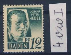 Baden Michel No. 4 v w I ** postfrisch
