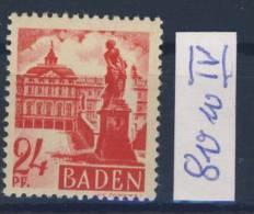 Baden Michel No. 8 v w IV ** postfrisch