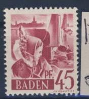 Baden Michel No. 9 y w III ** postfrisch