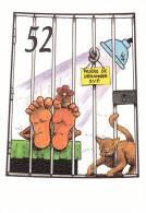 CPM CHAT ILLUSTRATEUR NEMOZ CLERMONT FERRAND 2001 JEU DE L OIE N° 52 500 EX - Gatti