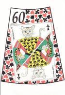 CPM CHAT ILLUSTRATEUR PJ KERIO CARTE A JOUER VALET  CHAT ? CLERMONT FERRAND 2001 JEU DE L OIE N° 60  500 EX - Gatti