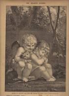 IMAGE   1895    MUSEE DU LOUVRE     COUP DE PATTE DU CHAT         PRUD HON      PETITS ANGES - Oude Documenten