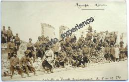 CPA Carte Photo Guerre 14-18 Militaire Village Bataille WW1 MAURUPT Marne 51 - France