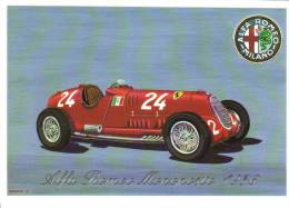 Alfa Romeo Tipo 12C  -  1936  - Art Card By Brovarone - Sport Automobile