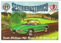 Sestriere Storico 2008  -  Alfa Romeo Duetto Challenge  - Disegno Di Aldo Brovarone  -  CP - Turismo