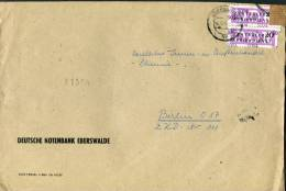 1957 DDR ZKD Dienstmarken Deutsche Notenbank Eberswalde Briefe - [6] Democratic Republic
