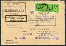 1966 DDR ZKD ZU 2 Stralsund Kreisgericht Dienstmarken Briefe - Dienstpost
