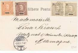 L-PO-3 - FUNCHAL - Belle Carte Postale De 1901 Pour Metzeral Alsace - Funchal