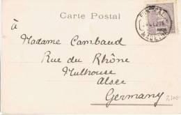 L-PO-4 - FUNCHAL - Belle Carte Postale De 1905 Pour Mulhouse Alsace - Funchal