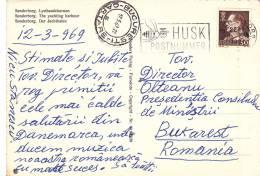 VERY RARE POSTMARK ON PC,HUSK POSTNUMMER,BEE,1969,DANEMARK - Api