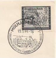 P204 - Cachet De Propagande MULHAUSEN 1 - MULHOUSE - 1944 - Timbre à SURTAXE  - - Marcophilie (Lettres)
