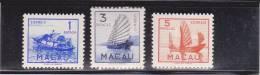 MACAU (CHINA) - RARE MICHEL N° 375/382 * (INFIMES TRACES D´ADHERENCES) - COTE 2003 (pour *) : 650 EUROS - 1949 - ... République Populaire