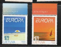 EUROPA LITUANIE  N° 736/737**  - V ACANCES  - Cote 3.00 € - Europa-CEPT