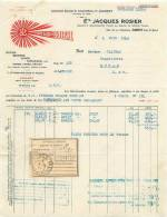 FACTURE LETTRE:  AGEN . Ets JACQUES ROSIER . CHAPEAUX DE SOLEIL . 1942 . - France