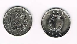 MALTA  2 X 10   CENTS 1986 - 1991 - Malte (Ordre De)