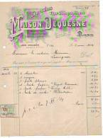 Mons - 1934 - Maison Dequesne - Impressions - Typo-lithographies - Printing & Stationeries