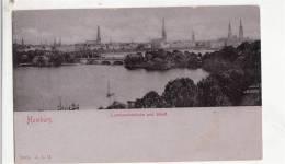 BR42407 Lombardsbrucke Und Stadt Hamburg   2 Scans - Altona
