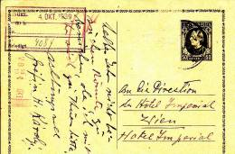 STATIONARY CARD  -  1939 - Storia Postale