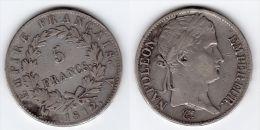 ECU DE 5 FRANCS  NAPOLEON  I Er 1812 A - France