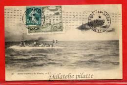 FRANCE CARTE AFFRANCHIE AVEC VIGNETTE ET OBLITERATION PORT AVIATION DU 17/10/1909 - Airmail