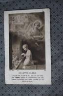 2 Icônes Religieuses Images Pieuses: Chromos-images:enfant Jésus, Une Lettre De Jésus - Images Religieuses