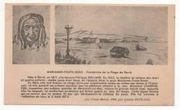 - BERCK. - MARIANNE-TOUTE-SEULE - Fondatrice De La Plage De Berck - Cpa  - Scan Verso - - Berck