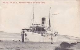 CPA EGYPTE German Ship In The Suez Canal - Otros