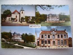 CP 95 Souvenir D'ANDILLY  - Multivue - église Mairie, Château Entre Nous, Le Château - Sonstige Gemeinden