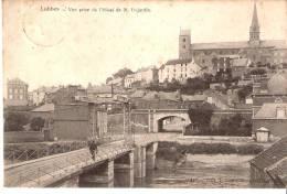 Lobbes (Thuin-Hainaut)-1906-Vue Prise De L´Hôtel De M.Dejardin-Pont Levant Sur La Sambre-Edit.J.Namur-Horgnies, Lobbes - Lobbes