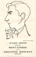 C.P. DESSIN DE JEAN COCTEAU DE JULIEN GREEN AUTEUR DE MONT CINERE ET DE ADRIENNE MESURAT - Cocteau